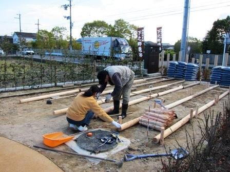 史跡公園の花壇造り