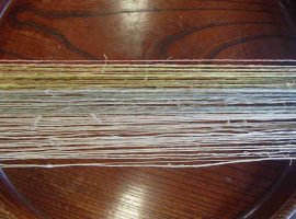 完成した糸